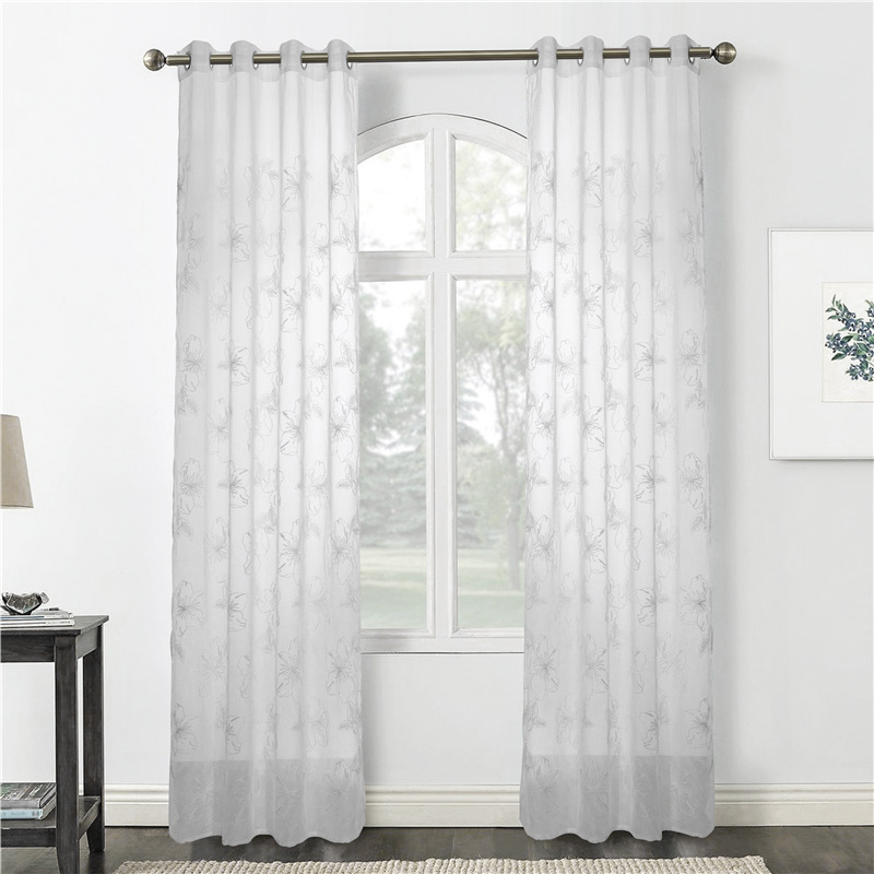 embroidery dolly curtain